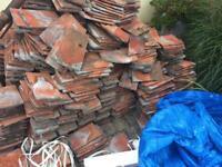 Marley red plain granular tiles red.