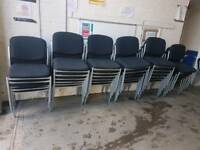 Large selection of office stackable chairs (x100 available)