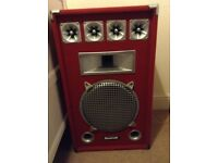 2 disco/PA speakers