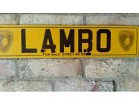 LAMBO Lamborghini number plate for sale