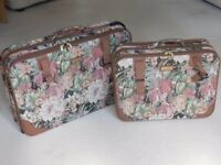 Two classy old suitcases for sale.