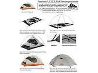 KELTY GUNNISON 3.2 BACKPACKING TENT, 3 SEASON, EXCELLENT QUALITY NEVER USED, ABSOLUTE BARGAIN!!