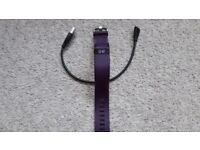 Fitbit Charge HR, colour plum, size small
