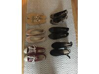 6 pairs of women's shoes size 5