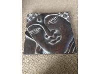 Buddha wooden plaque
