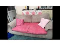 Free to collector 3+2 jumbo cord sofas (dfs?)