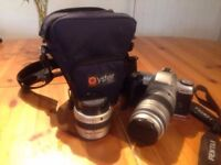 Analog SLR camera - Pentax MZ30. With carry case and 2 lenses.