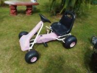 pink go cart