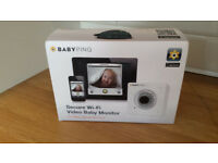 Babyping IOS wifi baby monitor - can monitor from outside of the home - w original box
