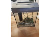 Aquarium with light and filter in great condition. Has to go asap!