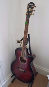 IBANEZ AEG24II Accoustic guitar, built in tuner and accessories