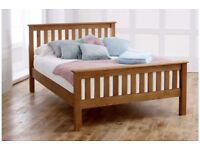 Brand New Shaker Style Solid Pine Bed 4FT6