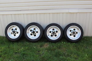 4 tires with chevy car 5 bolt rims