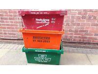 3 Large heavy duty storage crates