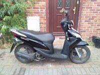 2012 Honda NSC Vision 110 scooter, new 12 months MOT, 1 owner from new, very good condition, not 125