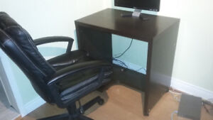 Office chair and small desk