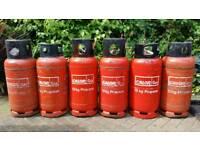 6 CALOR GAS BOTTLES 18KG FORKLIFT TRUCK LOG BURNER