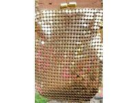 Gold shimmer handbag