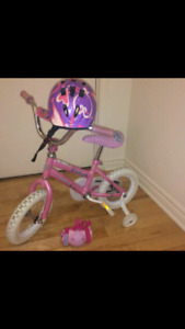 Velo fille + casque protection