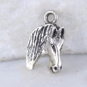 Sterling Silver Horse Head Charm Pendant