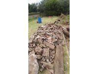 Free rubble bricks, concrete