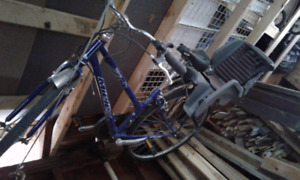 Womans bike with baby carrying thing -  $40