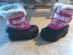 Sorel Kid's Snow Boots-pink size 7