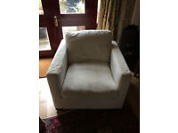 Clean, but used modern style armchair, very comfortable