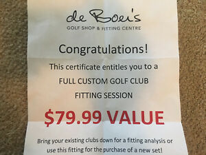 Custom Golf Club Fitting Session