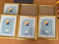 "6 x 9x7"" Gold Picture Frames"