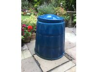 Blue compost bin 3 tiers for easy access 31 inches high see photo