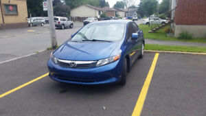 2012 Honda Civic Dx Sedan 15000km negotiable