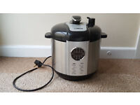 Tower T16005 Digital Pressure Cooker, 1100 W, 6 L - 1100 Watt, Stainless Steel