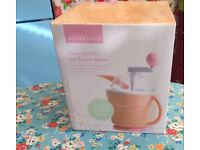 Lakeland ice and churn maker. New, unused with instructions.
