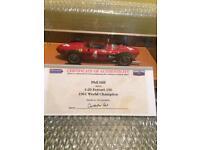Phil Hill signed Ferrari model car