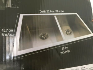 BRAND NEW SEALED - PROFESSIONAL Stainless Steel Kitchen Sink