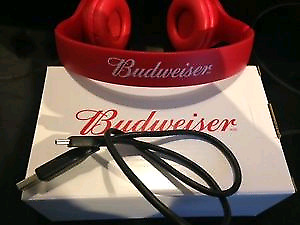 Budweiser Blue tooth head phones