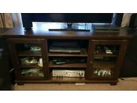 Tv stand with two glass cabinet