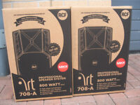 SALE - 2 x RCF ART 708A Mk2 Active 8+1 inch PA Speakers or Monitors (400W RMS) NEW