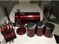 Morphy Richards Kitchen set of 6 - red