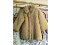 Girls fur coat 3-4years