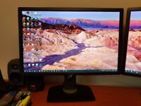 Dell UltraSharp U2412M 24 inch LED Monitor with IPS Panel (x2 available)