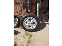 Escort cloverleaf alloy good condition. Collection only