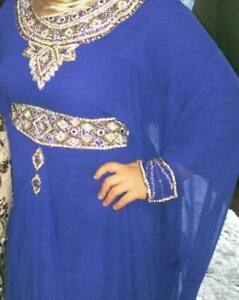 royal blue abaya one size fits all