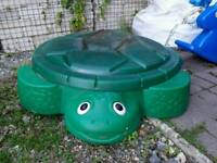 Little Tikes turtle sand pit with lid