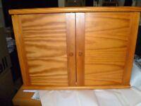 pine bathroom cabinet with glass shelf
