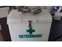 Equine Vetinary Box with stethescope. Price Drop