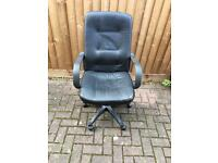 Leather look desk office chair