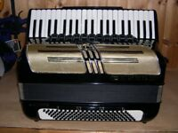Hohner Atlantic Musette, 4 Voice, Musette Tuned, 120 Bass, Piano Accordion.