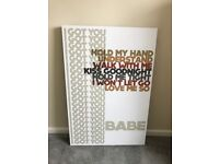 Large Lyricology I Got You Babe Wall Art Picture by Demdaco 61cm x 92cm